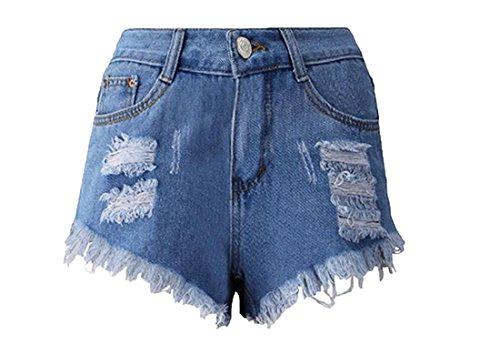 Abetteric Womens Fashion Destroyed Shorts product image