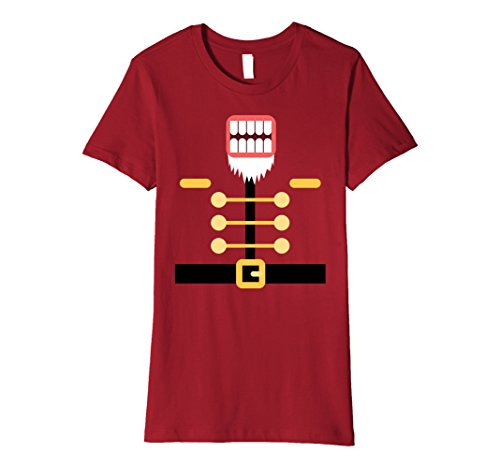 Womens Nutcracker Toy Soldier Group Costume Premium T-shirt Small Cranberry