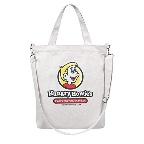 Womens Canvas Tote Bag Shoulder Hungry Howie's logo Grocery Bags Large Shopper Reusable Handbag