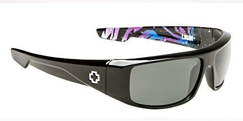 Spy Optic Logan Ken Livery Wrap Sunglasses, Livery Happy Gray & Green, 60 ()