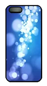 Light circles Polycarbonate Hard iPhone 5s and iPhone 5 Case Cover - Black