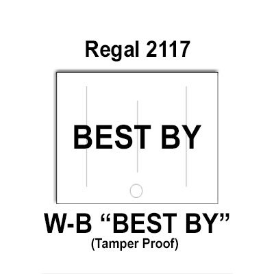 120,000 Regal 2117 compatible ''BEST BY'' White General Purpose Labels to fit the Regal Price Gun. Full Case [bulk rate pricing]. by Infinity Labels