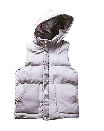 Winter Bodywarmer Men's Padded Light Grey Jacket Gilet DianShaoA Zip Hodded FOCxpw7w