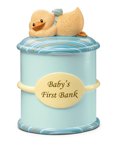 Russ Berrie Baby's First Money Bank, Blue (Discontinued by Manufacturer) ()