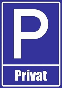 21 x 15cm PVC Privat Kiwistar Parkplatzschild