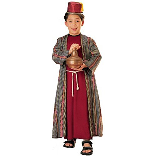 [Three Wise Men Child Costume Balthazar (red with fez) - Large] (Balthazar Child Costumes)