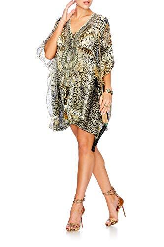 Animal Silk Short ONE Lace Spirit Size Kaftan Camilla up a5wvqnB