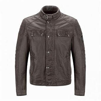 6c10ed5290 Belstaff Imola / Glen Vine Jacket - Burnished Brown (Medium): Amazon ...