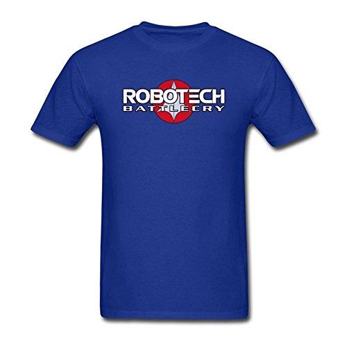 Tommery Men's Robotech Art Design Short Sleeve Cotton T Shirt