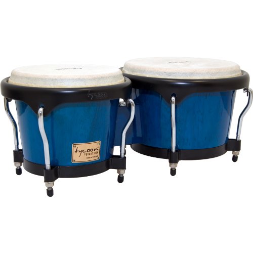 Tycoon Percussion 7 Inch & 8 1/2 Inch Artist Series Bongos - Blue Finish by Tycoon Percussion