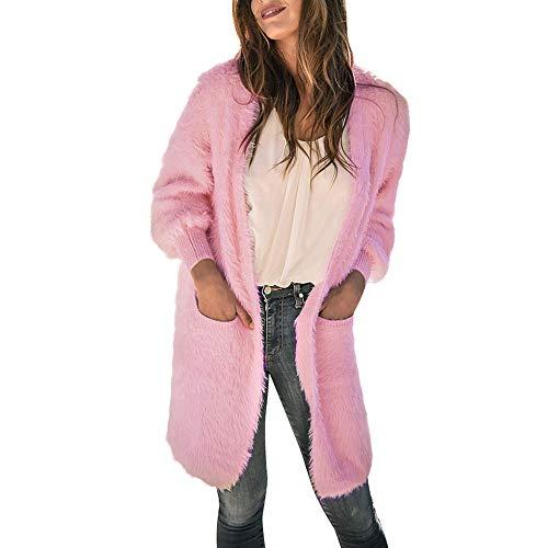 Tan Electric Blanket - Women Fuzzy Fleece Jacket,Open Front Hooded Cardigan Coat Outwear with Pockets
