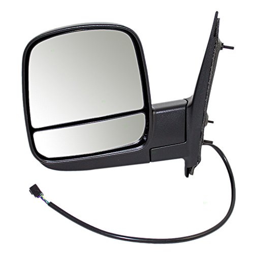 Drivers Power Side View Dual Mirror Glass Heated Replacement for Chevrolet Express GMC Savana Van 15227418