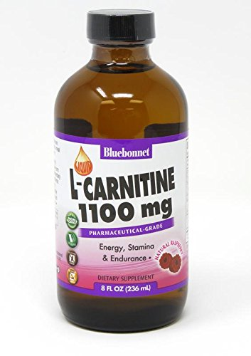 Bluebonnet Liquid L-Carnitine 1100 mg, Raspberry, 8 Fluid Ounce