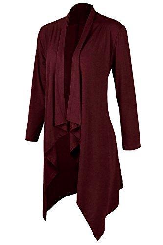 Cardigan Casuale Aumir donna Maxi lunghi Autunno Kimono Maglieria Rosso Cardigan g11wHd