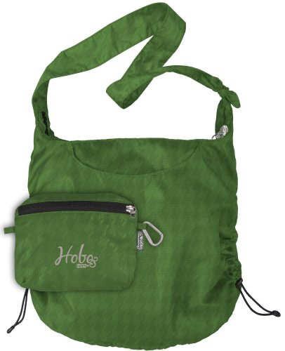 ChicoBag Reusable Hobo rePETe Shopping Tote (Online Green, Bag Handle 15-Inch, Bag Body 28.5-Inch x 17-Inch, Pouch 6.25-Inch x 8-Inch)