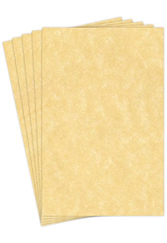 "Stationery Parchment Paper | 24 Lb Bond/60 lb Text/90 Gsm Paper | 50 Sheets Per Pack | 11"" x 17"" Inches 