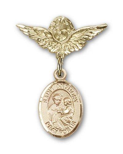 Icecarats Or Bijoux De Créateurs Rempli R. Antoine De Padoue Charme Ange Broche De Badge 1 X 3/4