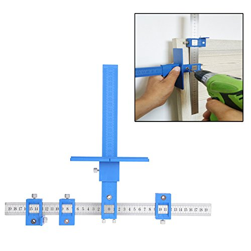 Chaufly Woodworking Punch Locator Drill Guide for Cabinet Hardware Drawer/Hole Saw Master System