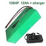 Seilylanka-48V-12Ah-13S4P-Li-Ion-Pacco-Batteria-E-Bike-Bicicletta-elettrica-Ebike-250-80-70mm-Accetta-Personalizzazione-con-Caricabatterie