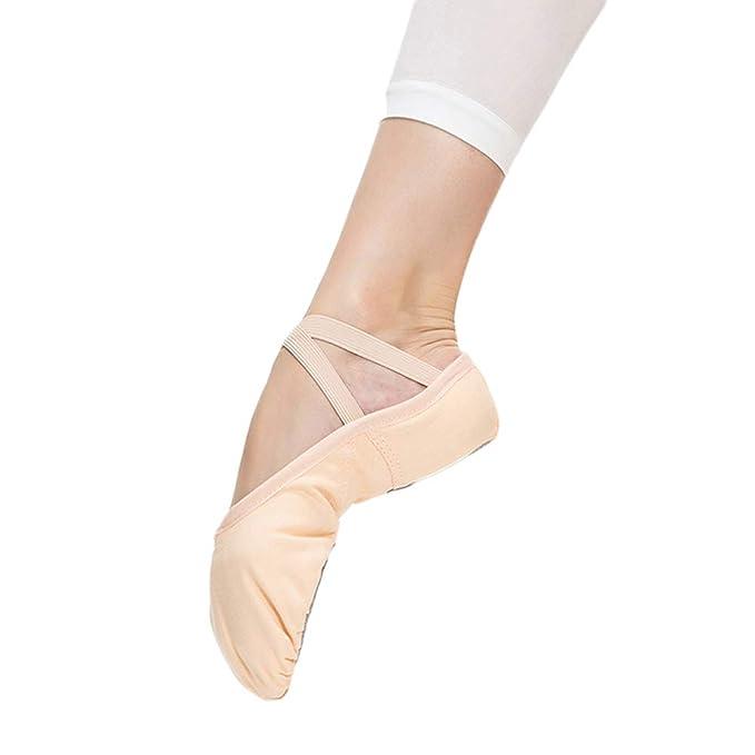 LFEWOX (2 pares) Zapatillas de Ballet para niñas niños ...
