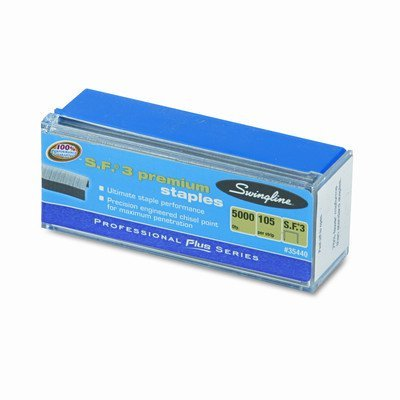 S.F. 3 Premium Chisel Point Half Strip Staples, 5000/Box [Set of 2]