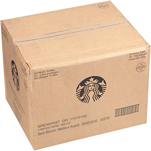 Starbucks Pillow Pack, Breakfast Blend, 72 Individually Wrapped Packs of 2.5 oz. (360 total oz.) by Starbucks (Image #3)