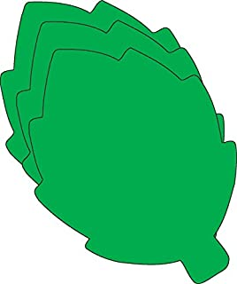 """product image for 3"""" Green Leaf Creative Cut-Outs, 31 Cut-Outs in a Pack for Spring and Summer Craft Ideas for School and Classroom"""