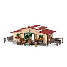 Schleich 42195 Stable with Horses and Accessories Action Figure