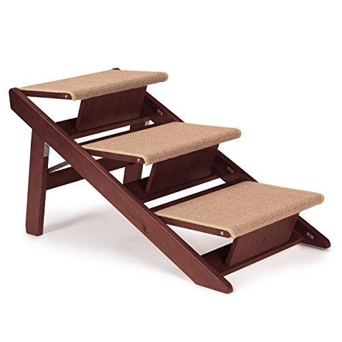 Pet Studio Pine Frame Dog RampSteps