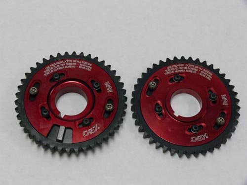 (OBX Performance Red Adjustable Cam Gear Sprocket - 96-04 Ford Mustang 4.6L)