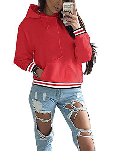 Yieune - Sudadera con capucha - Manga Larga - para mujer C-Rot