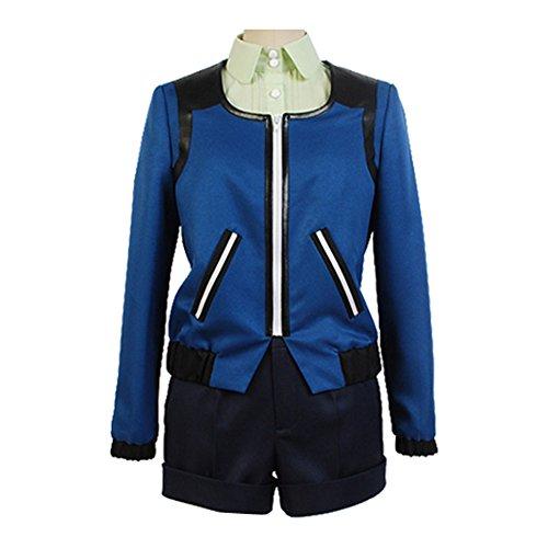 Touka Cosplay Costume (Ya-cos Cosplay Touka Kirishima Costume Suit Casual Coat Outfit Blue)