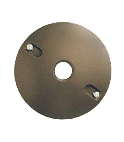 Teddico/Bwf 931AB-1 4'' Round 1G 1-Hole Lamp Holder Cover, Bronze
