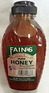 product image for Fain's Natural Raw Pure Honey 16 Oz (Pack of 1) (Llano, Tx)
