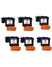Voor Printer PRTA10764 84 85 Printkop voor HP 84 85 C5019A C9420A C9421A C9422A C9423A C9424A Printkop voor 30 90R 130 Printer- (Color : 1Set-6 Pieces)