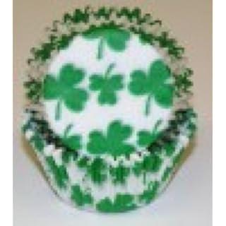 100 Shamrock Print Cupcake Liners Baking Cups STANDARD SIZE