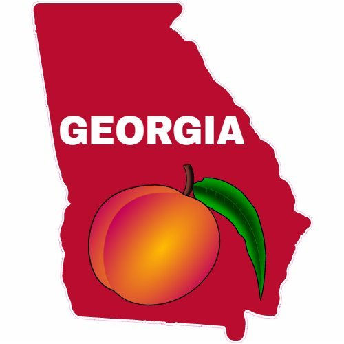 georgia peach decal - 2