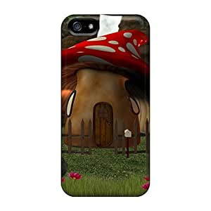 Diy Yourself Anti-scratch And Shatterproof Chic With Mushroom House cell phone case cover For Iphone 5/5s/ FwtrOcJhRty High Quality Tpu case cover