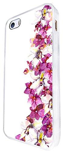 622 - Shabby Chic Wild Flowers Fleurs Design iphone SE - 2016 Coque Fashion Trend Case Coque Protection Cover plastique et métal - Blanc