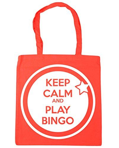 42cm Play Coral HippoWarehouse Bingo Bag Gym x38cm litres Shopping Calm Keep 10 and Tote Beach 6aqtv