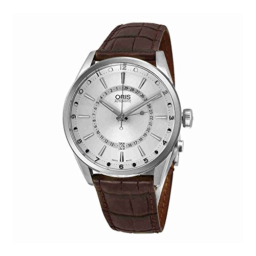 Oris Men's Artix Pointer Moon 42mm Brown Leather Band Steel Case Automatic Analog Watch 76176914051LS