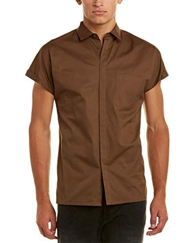 - Helmut Lang Mens Uni Sleeve Shirt, M, Green