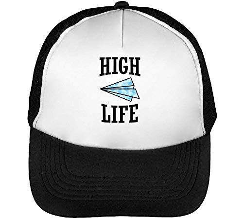 High Life Weed Motivation Gorras Hombre Snapback Beisbol Negro Blanco