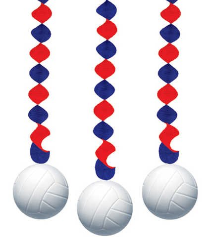 Dangling Volleyball Cutouts (Out Volleyball Cut Decoration)