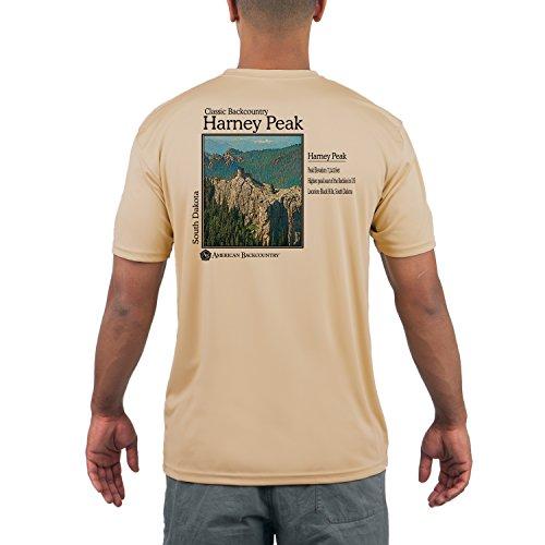 Harney Peak Mens Upf 50  Short Sleeve T Shirt Large Vegas Gold