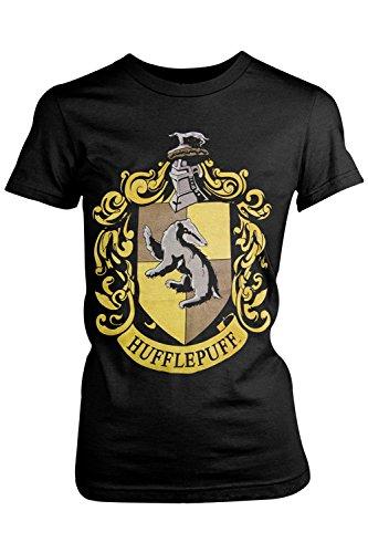 Harry Potter - Camiseta - camisa - para mujer Hufflepuff - Black