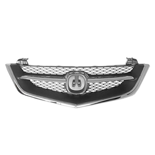 Grille Assembly Front Chrome & Black for 02-03 Acura 3.2 TL