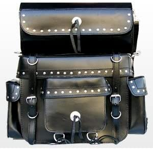 Sissy-Bar Top Case con Papel Alforjas de cuero SB-124
