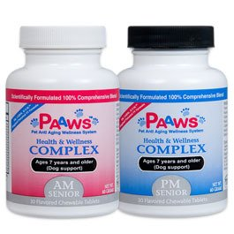Paaws Dog Vitamins  Senior Dogs 7 Years & Older Large Dog 60+ lbs 30 day supply