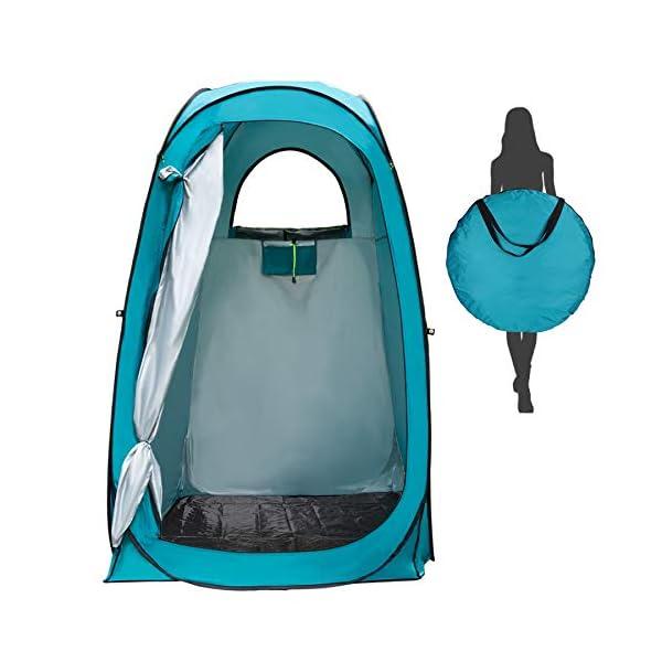 41bZ6KeZHqL YUANJ Camping Duschzelt, Pop Up Toilettenzelt Wasserdicht Umkleidezelt, Outdoor Privat Mobile WC Zelt für Camping…